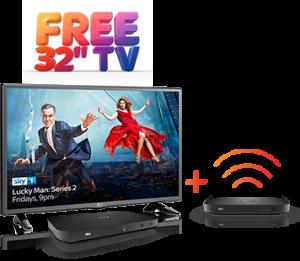 sky free tv ieland